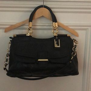 Coach Black leather handbag with strap